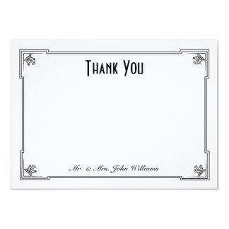 Art Deco Style Flat Thank You Note Card