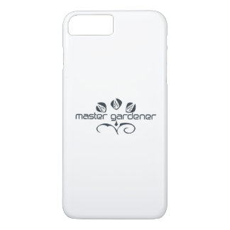 Art DEco Style Master Gardener Floral Logo iPhone 7 Plus Case