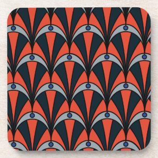 Art deco style pattern coaster