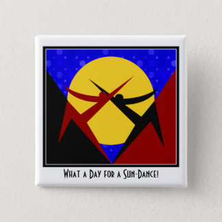 Art Deco Sun-Dance 2 Inch Square Button