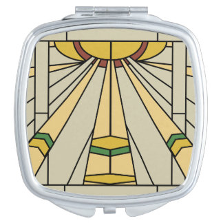 Art Deco Sunshine Compact Mirror