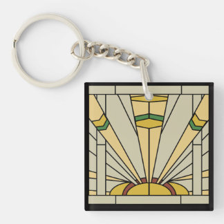Art Deco Sunshine Keychain