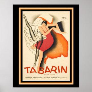 "Art Deco ""Tabarin"" Vintage Movie Poster 16 x 20"