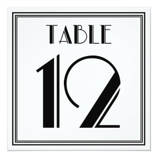 Art Deco Table Number 12