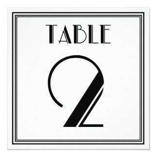 Art Deco Table Number 2