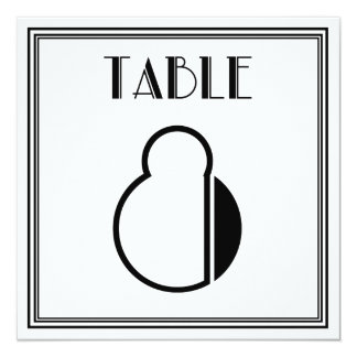 Art Deco Table Number 8 Card