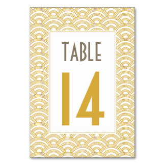Art Deco Table Number Cards