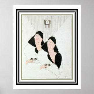 "Art Deco ""Tea Time"" 16 x 20 Poster"