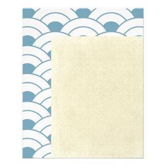 Art deco,teal,white,vintage,shell pattern,1920 era flyer