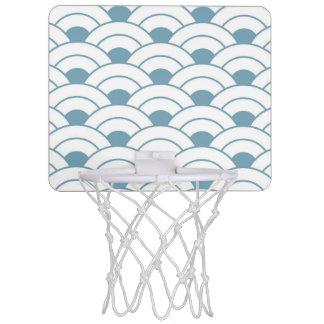 Art deco,teal,white,vintage,shell pattern,1920 era mini basketball hoop