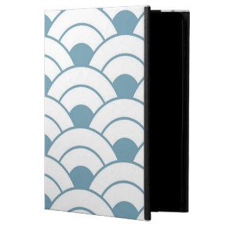 Art deco,teal,white,vintage,shell pattern,1920 era powis iPad air 2 case