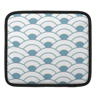 Art deco,teal,white,vintage,shell pattern,1920 era sleeve for iPads