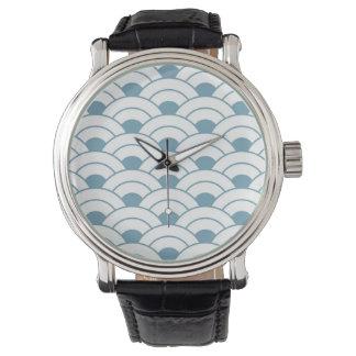 Art deco,teal,white,vintage,shell pattern,1920 era watch