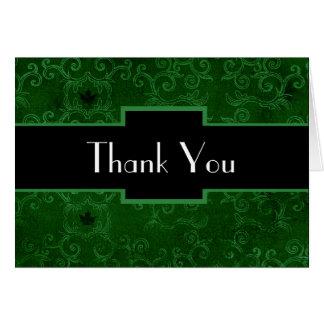 Art Deco Thank You card