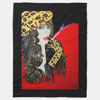 ART DECO THE SMOKER FLEECE BLANKET