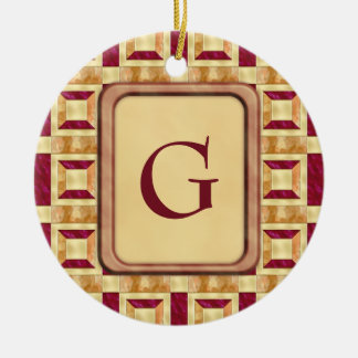 Art Deco Theater Double-Sided Ceramic Round Christmas Ornament