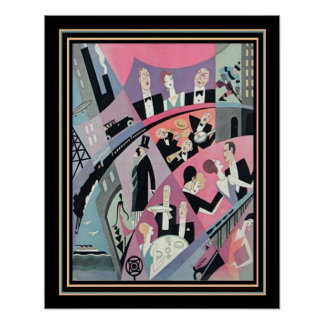 Art Deco Travel/Entertainment Print 16x20