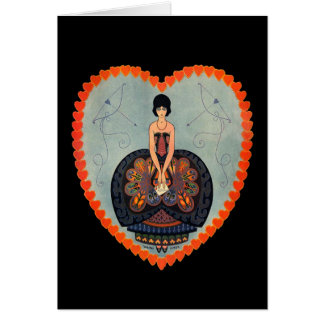 Art Deco Valentine Card