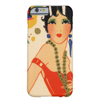 Art Deco Vamp, 1920s Flapper Barely There iPhone 6 Case