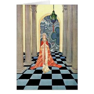 Art Deco Vintage Woman Card