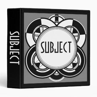 Art Deco Vinyl Binder