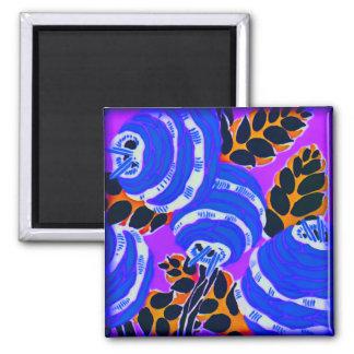 Art Deco Wallflowers - Blues+ (magnet) Magnet