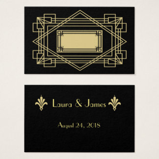 Art Deco Wedding Place Cards
