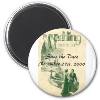 Art deco wedding, Save the ... Magnet