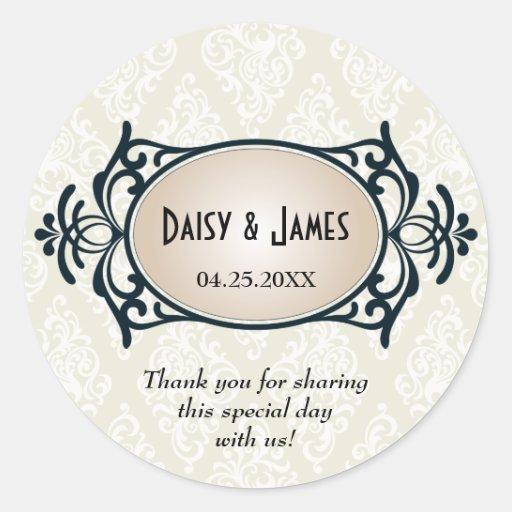 Art Deco Wedding Stickers