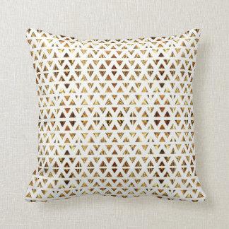Art Deco White Throw Pillow