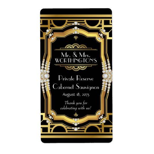 Art Deco Wine Label