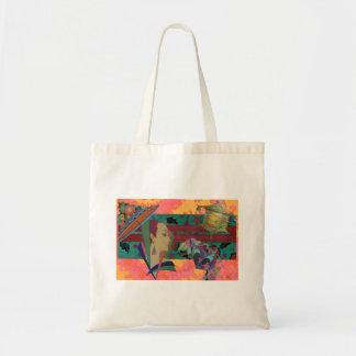 Art Deco Woman Color Splash Tote Bag