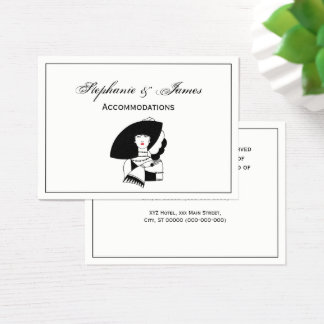 Art Deco Woman In Big Hat Gloves RL Business Card