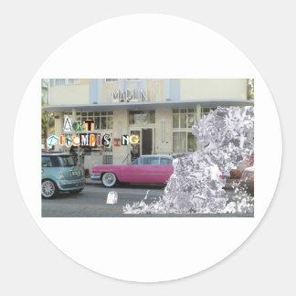 Art Decomposing Round Sticker