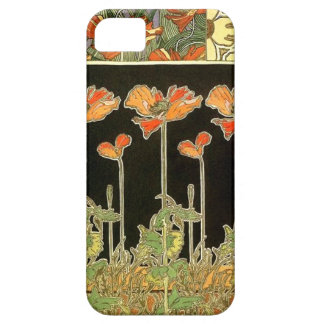 Art décoratifs (orange flowers) by Alphonse Mucha iPhone 5 Case
