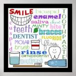 Art dentaire de souterrain de termes affiches