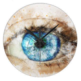 art design beautiful masterpiece new fashion eye large clock