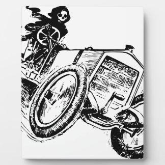 art design car plaque