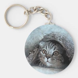 art design cat keychain