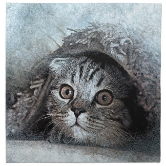 art design cat napkin