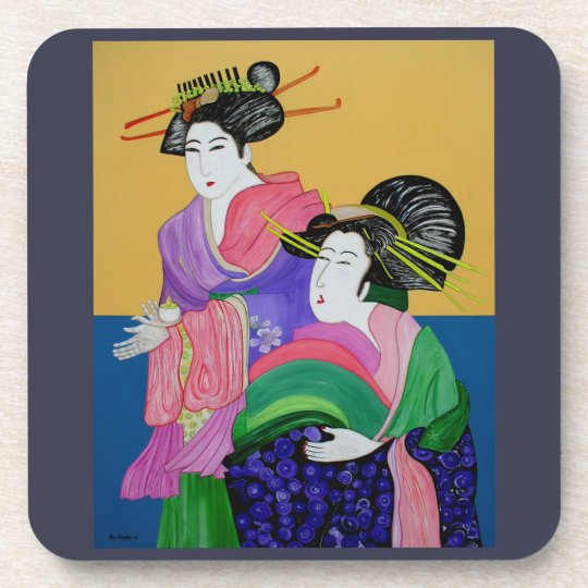 Art Design Hard Plastic Coasters - set of 6