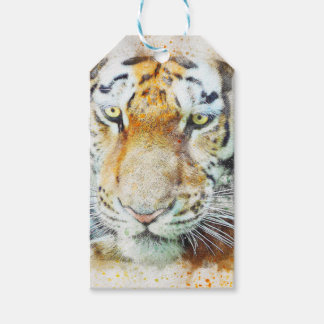 art design tiger gift tags