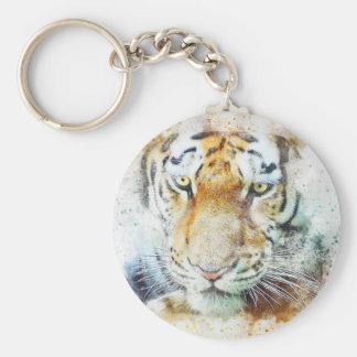 art design tiger keychain