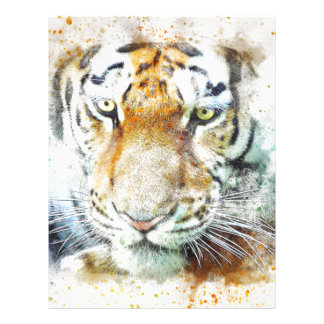 art design tiger letterhead