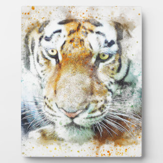 art design tiger plaque