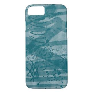 Art Digital Watercolor Painting Blue Ink Wash iPhone 8/7 Case