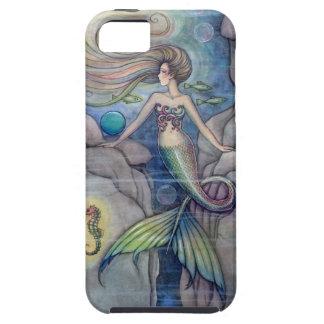 Art d'imaginaire de sirène et d'hippocampe par l'a coques Case-Mate iPhone 5