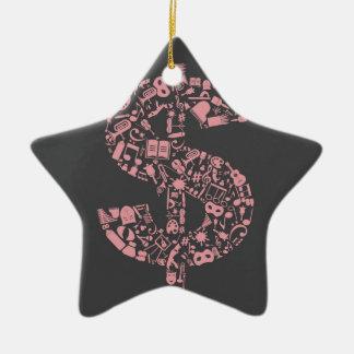 Art dollar ceramic star ornament