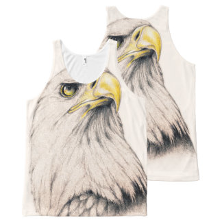 Art Drawing Of  Eagle All-Over-Print Tank Top