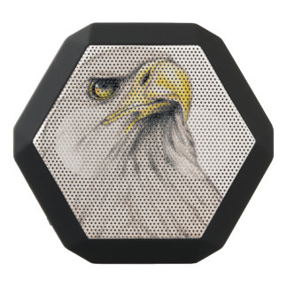 Art Drawing Of  Eagle Black Bluetooth Speaker